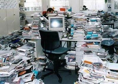 mesa desorganizada