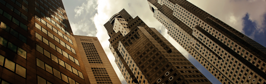neo retro city skyline inkbluesky